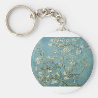 Flor de la almendra de Van Gogh Llavero Redondo Tipo Pin