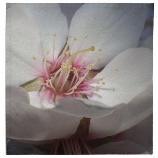 Flor de la almendra servilletas de papel