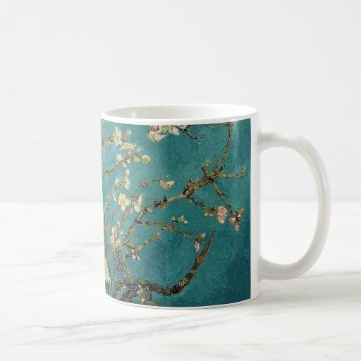 Flor de la almendra taza de café
