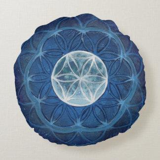 Flor de la almohada de la meditación de la mandala cojín redondo