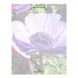 Flor de la amapola azul membretes personalizados