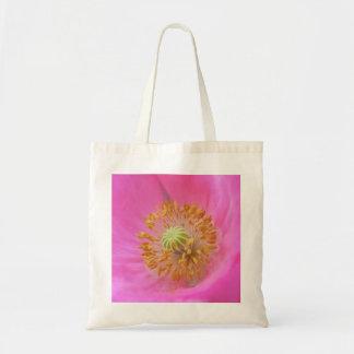 Flor de la amapola de las rosas fuertes bolsas