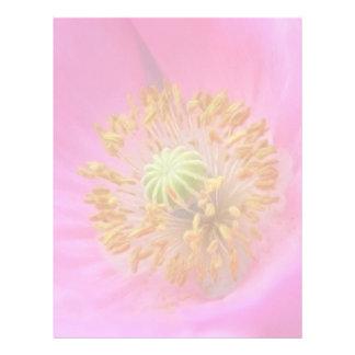 Flor de la amapola de las rosas fuertes membrete a diseño