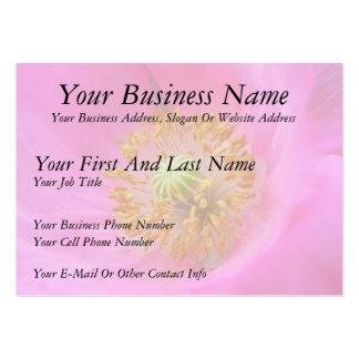 Flor de la amapola de las rosas fuertes plantilla de tarjeta de negocio