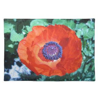 Flor de la amapola manteles individuales
