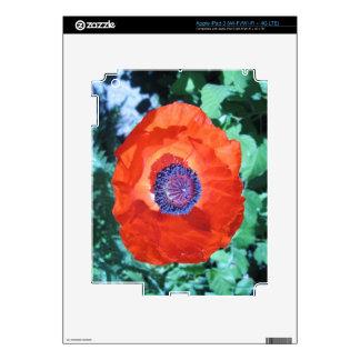 Flor de la amapola pegatinas skins para iPad 3