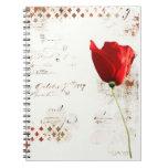 flor de la amapola sprial cuadernos
