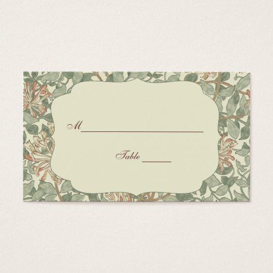 Flor de la antigüedad del número de la tabla del tarjeta de negocios