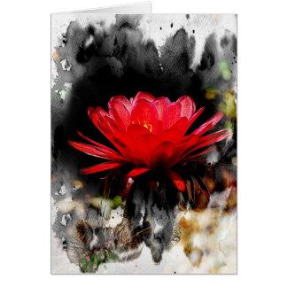 Flor de la antorcha del cactus tarjeton
