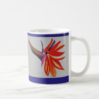 Flor de la ave del paraíso de la acuarela taza clásica