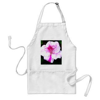 Flor de la azalea del chapoteo del rosa y del blan delantal