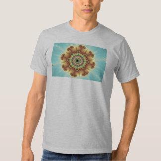 Flor de la caída - arte del fractal remera