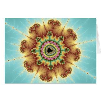 Flor de la caída - arte del fractal tarjeta de felicitación