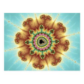 Flor de la caída - arte del fractal tarjeta postal