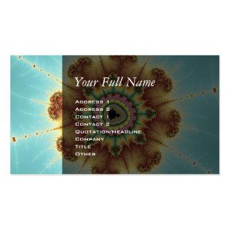 Flor de la caída - arte del fractal tarjetas de visita