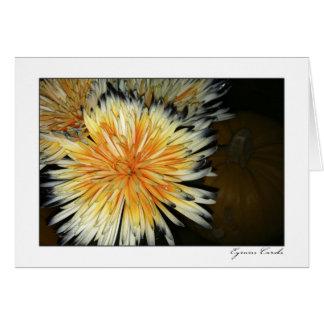 Flor de la calabaza tarjeta de felicitación