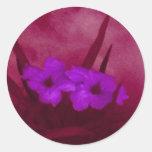 Flor de la calle pegatina redonda