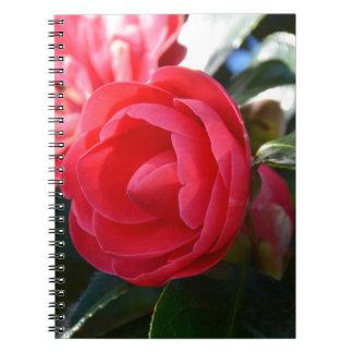 Flor de la camelia libreta