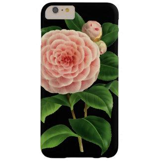 Flor de la camelia del vintage botánico funda barely there iPhone 6 plus