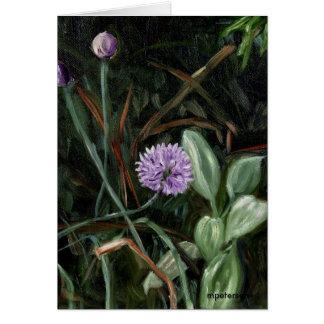 Flor de la cebolleta tarjeta de felicitación