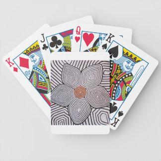 Flor de la cebra baraja cartas de poker