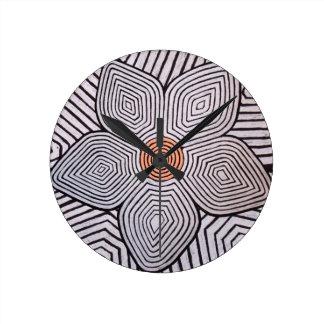 Flor de la cebra reloj de pared