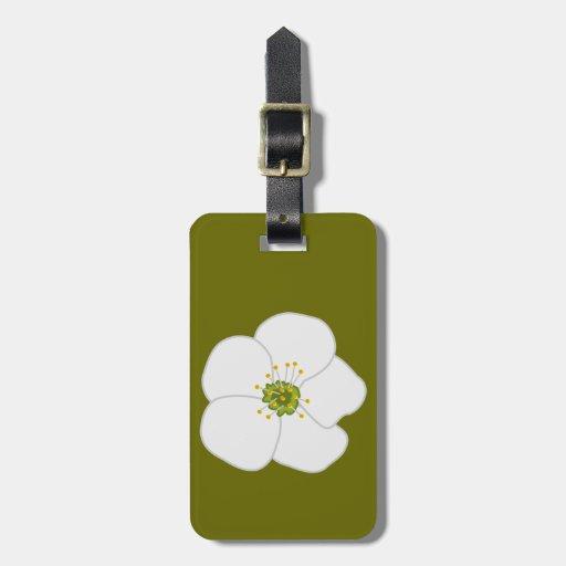 Flor de la cereza etiqueta para equipaje