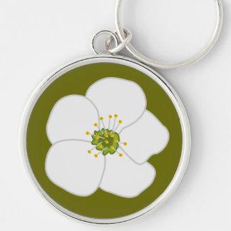 Flor de la cereza llavero personalizado