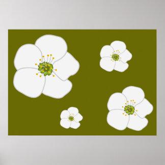 Flor de la cereza póster