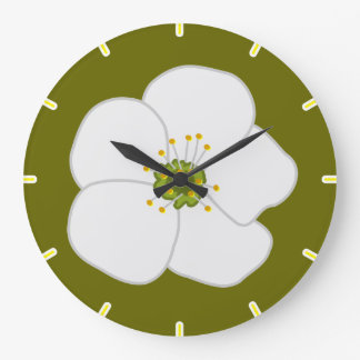 Flor de la cereza reloj redondo grande