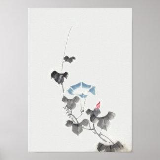 flor de la correhuela del 葛飾北斎, Hokusai Posters