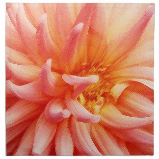 Flor de la dalia del deslumbramiento servilletas imprimidas