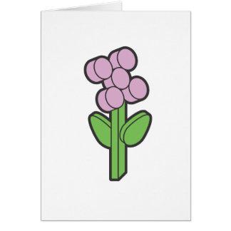 Flor de la era espacial tarjeta pequeña