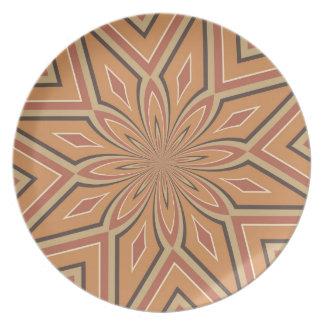 Flor de la estrella de la especia de la calabaza plato