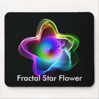 Flor de la estrella del fractal mouse pads