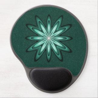 Flor de la estrella del verde de mar en el gel alfombrilla con gel