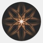 Flor de la estrella etiquetas redondas
