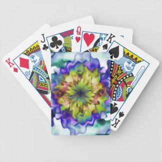 Flor de la fantasía baraja de cartas