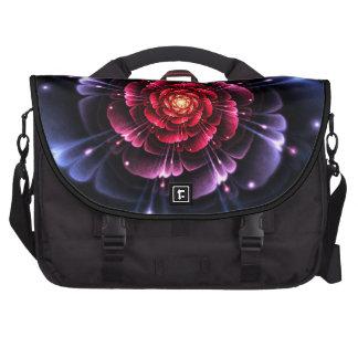 Flor de la fantasía en la bolsa de pañales azul de