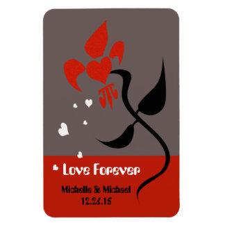 Flor de la flor de lis del amor imanes de vinilo