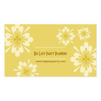 Flor de la flor de lis tarjeta de visita