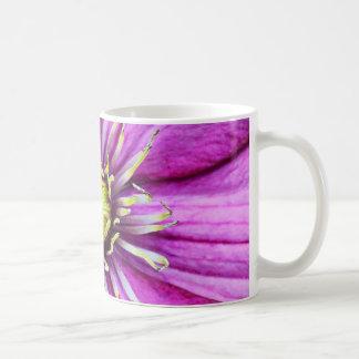 Flor de la flor del clematis púrpura taza