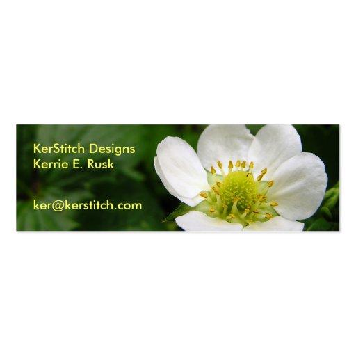 Flor de la fresa: Tarjeta de visita flaca/mini Bkm