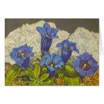 Flor de la genciana tarjetón