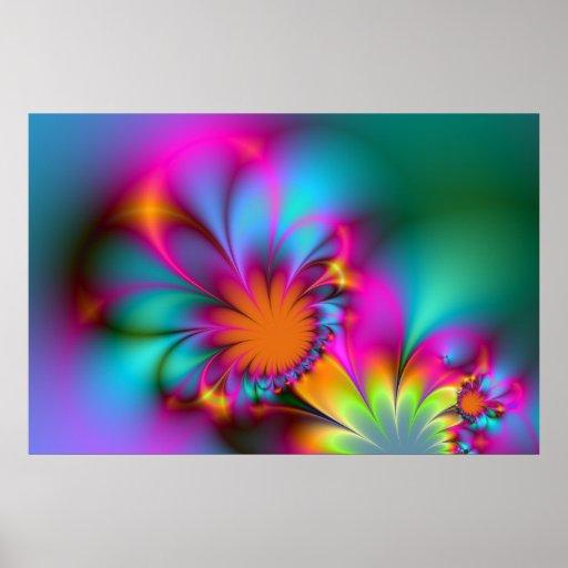 Flor de la guardería póster