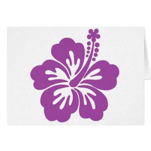 flor de la hawaiana del hibisco felicitación