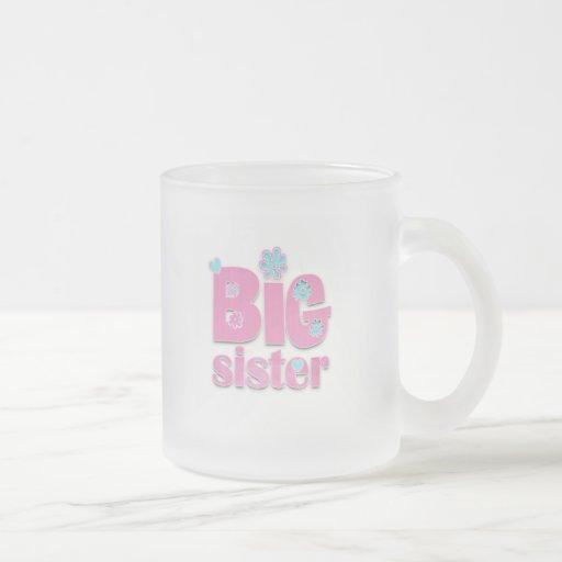 Flor de la hermana grande taza de cristal