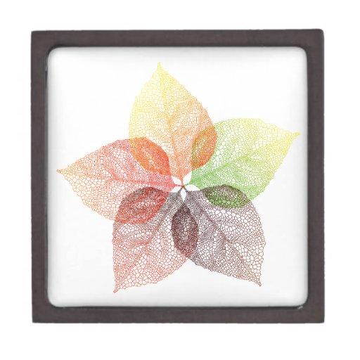 Flor de la hoja del otoño cajas de regalo de calidad