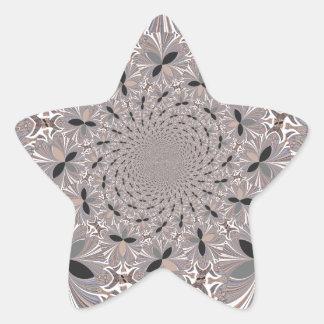 Flor de la inspiración pegatina en forma de estrella