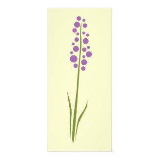 Flor de la lavanda diseño de tarjeta publicitaria